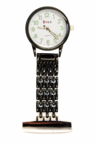 Black Luminous Nurse or Beauticians Fob Watch Personalised