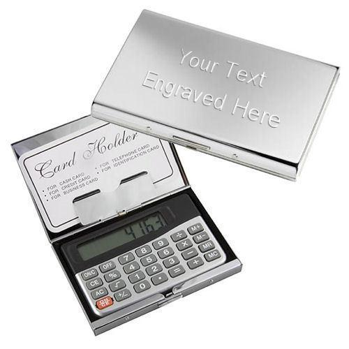 Wedding Gift Calculator Uk : Business Card Holder Case with Calculator Personalised