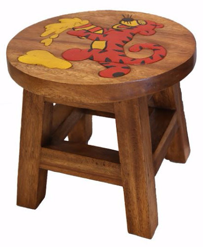 Children S Wooden Step Or Stool Tigger Design Personalised