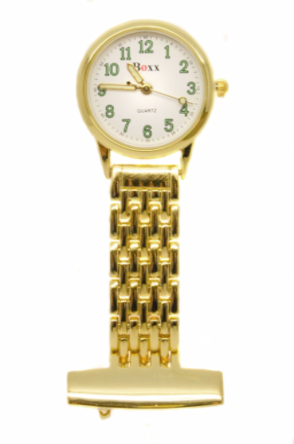 Gold Luminous Nurse or Beauticians Fob Watch Personalised