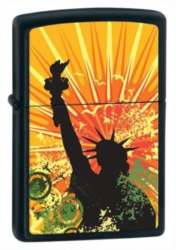 Lady Liberty Zippo Lighter Personalised