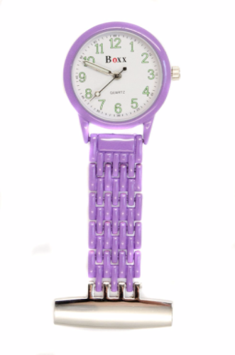 Purple Luminous Nurse or Beauticians Fob Watch Personalised