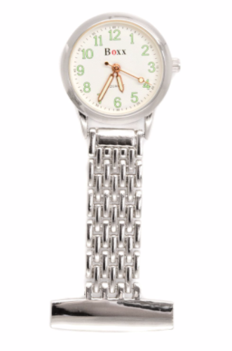Silver Luminous Nurse or Beauticians Fob Watch Personalised