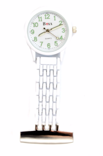 White Luminous Nurse or Beauticians Fob Watch Personalisesd