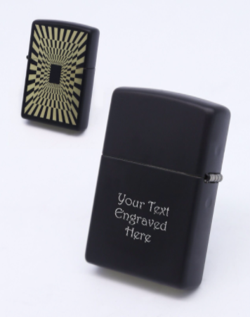 Abstract Matte Finish Zippo Lighter