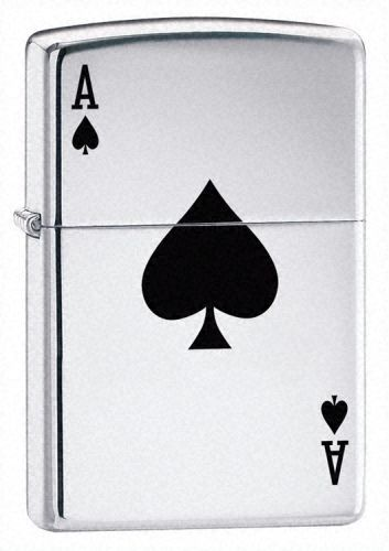 Ace Polished Chrome Zippo Lighter Personalised