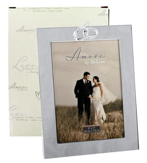 Amore Entwined Rings Photo Frames Personalised | County Engraving