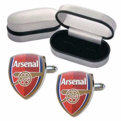 Arsenal FC Crest Cufflinks Personalised