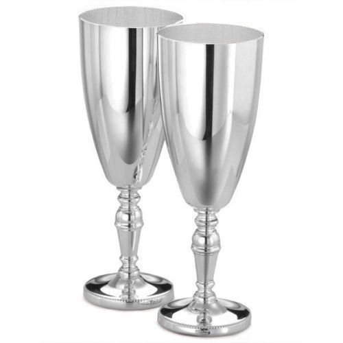 Arthur Price Silver Plated Champagne Goblets Personalised | County Engraving