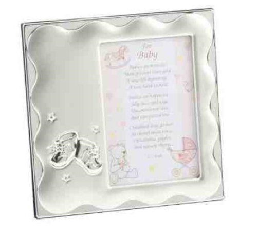 Baby Girl Bootie Frame Personalised | County Engraving