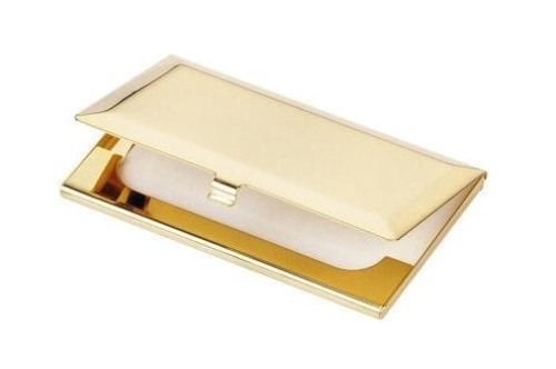 Bevelled Edged Business Card Holder Personalised