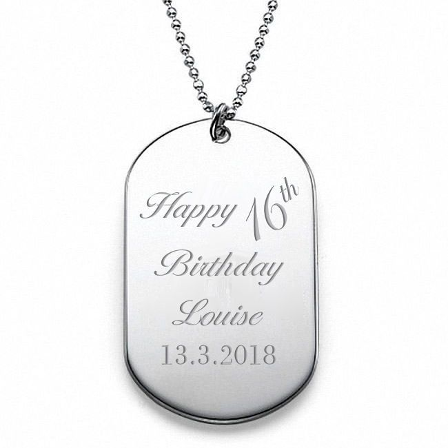 Birthday Stainless Steel Army Tag Personalised | County Engraving