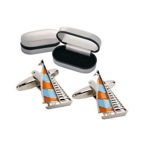 Boat Sailing Cufflinks Personalised | County Engraving