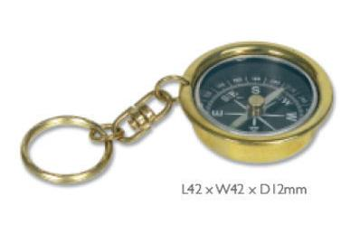 Brass Compass Key Ring Personalised