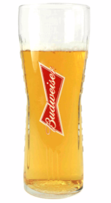 Budweiser 1 Pint Glass Personalised