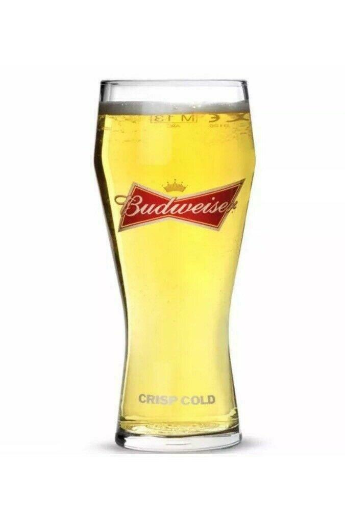 Budweiser Beer Glass 1 Pint Glass Personalised County