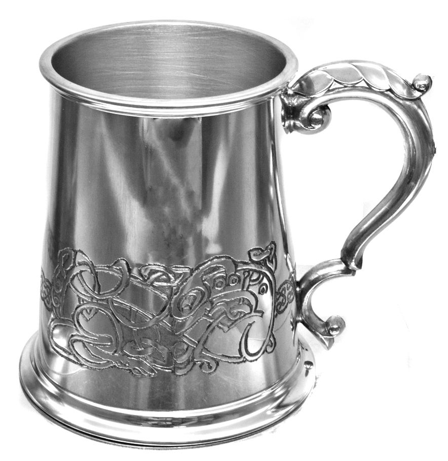 Personalised Wentworth Glass Bottom Pint Pewter Tankard Engraved Gift