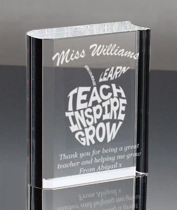 Clear Optic Glass Book Personalised | County Engraving