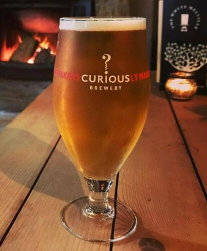 Curious Brewery ½  Pint Stemmed Glass Personalised | County Engraving