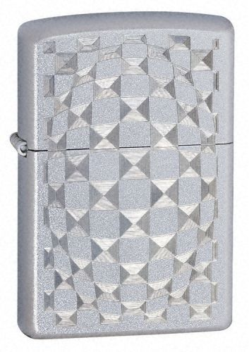 Cut Glass Brush Design Zippo Lighter