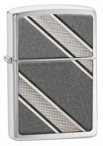 Double Diagonal Emblem Zippo Lighter