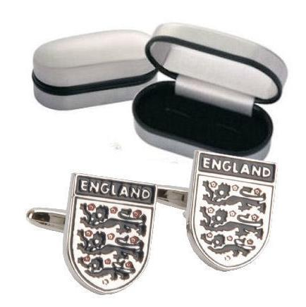 England 3 Lions Cufflinks Personalised
