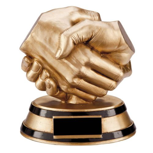 Fair Play Handshake Award Personalised | County Engraving