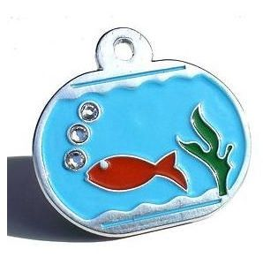 Fish Bowl Cat Tag