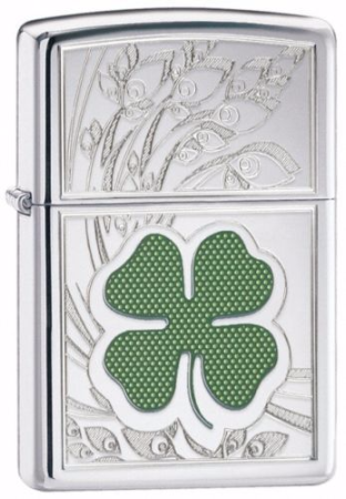 Four Leaf Clover Thumbprint Zippo Lighter Personalised