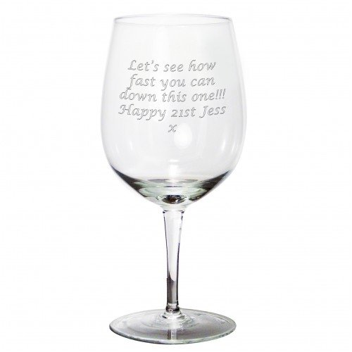 Giant Wine Glass Personalised County Engraving