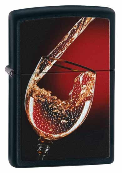 Glass of Wine Zippo Lighter Personalised