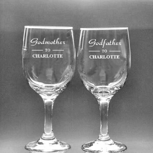 or godfather wine glass personalised county engraving