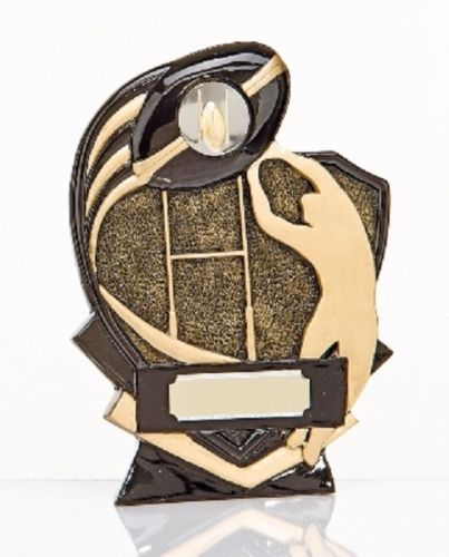 Gold & Black Resin Rugby League-Union Trophy