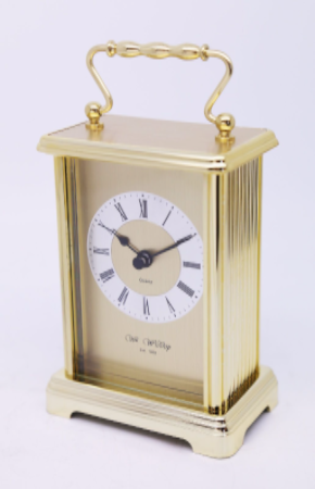 Gold Faced Carriage Clock Personalised