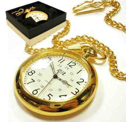 Gold Open Face Pocket Watch Personalised