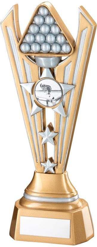 Gold & Silver Resin Pool Snooker Tri-Star Award