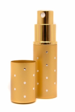 Gold With Silver Speckled Design Atomiser Personalised