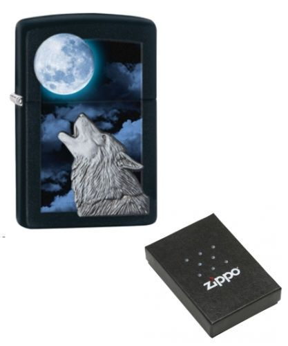 Howl at the Moon Zippo Lighter