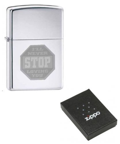 I'll Never Stop Loving You Zippo Lighter Personalised