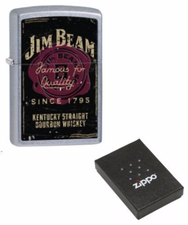 Jim Beam 1795 Vintage Chrome Zippo Lighter Personalised