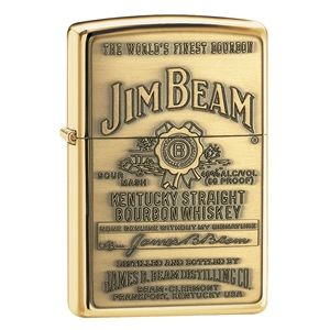 Jim Beam Brass Emblem Zippo Lighter Personalised