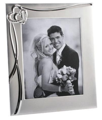 Joined Hearts Photo Frame Personalised | County Engraving
