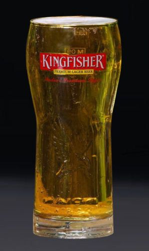 Kingfisher Lager Glass Personalised | County Engraving