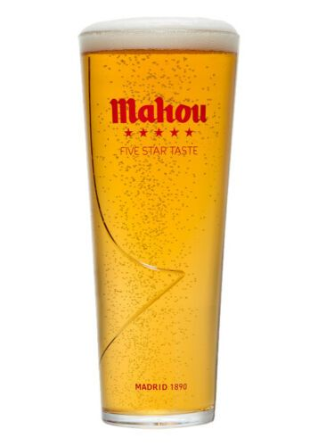 Mahou 1 Pint Tall Beer Glass Personalised