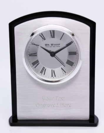 Metallic Mantel Clock with Roman Numeral Display Personalised