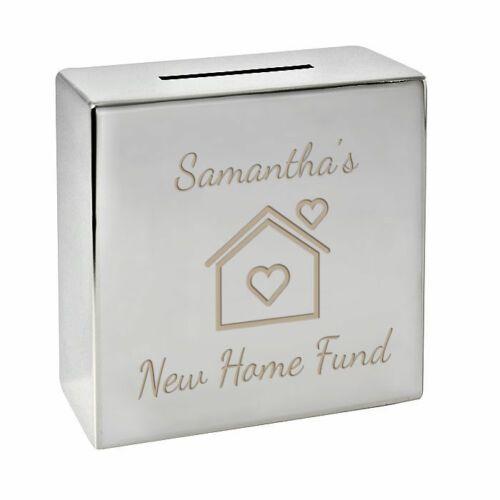 New Home Fund Money Box  Personalised | County Engraving