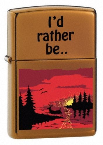 Outdoor Escape Toffee Zippo Lighter