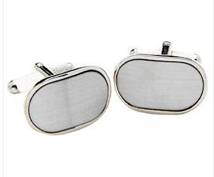 Oval Brushed Cufflinks Personalised