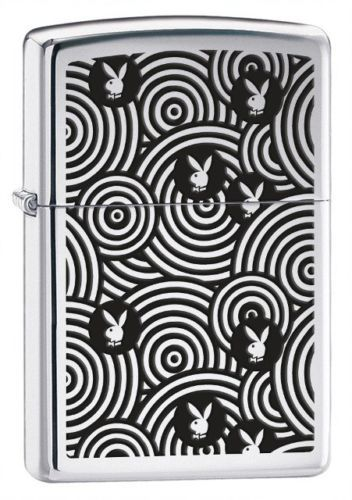 Playboy Spirals Zippo Lighter Personalised