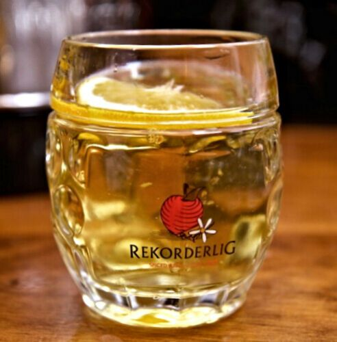 Rekorderlig Cider Winter Glass Tankard Personalised | County Engraving